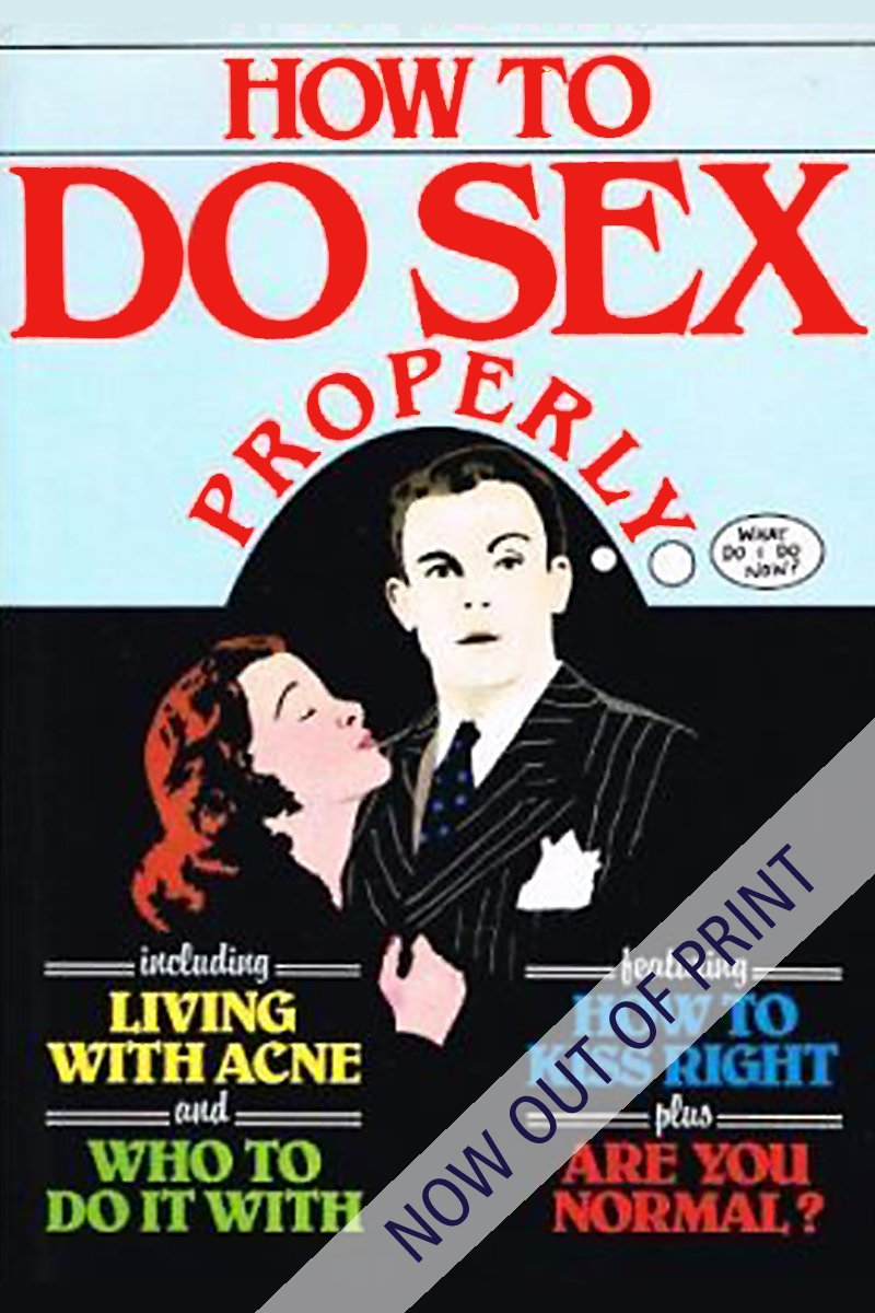 book cover for how to do sex properly
