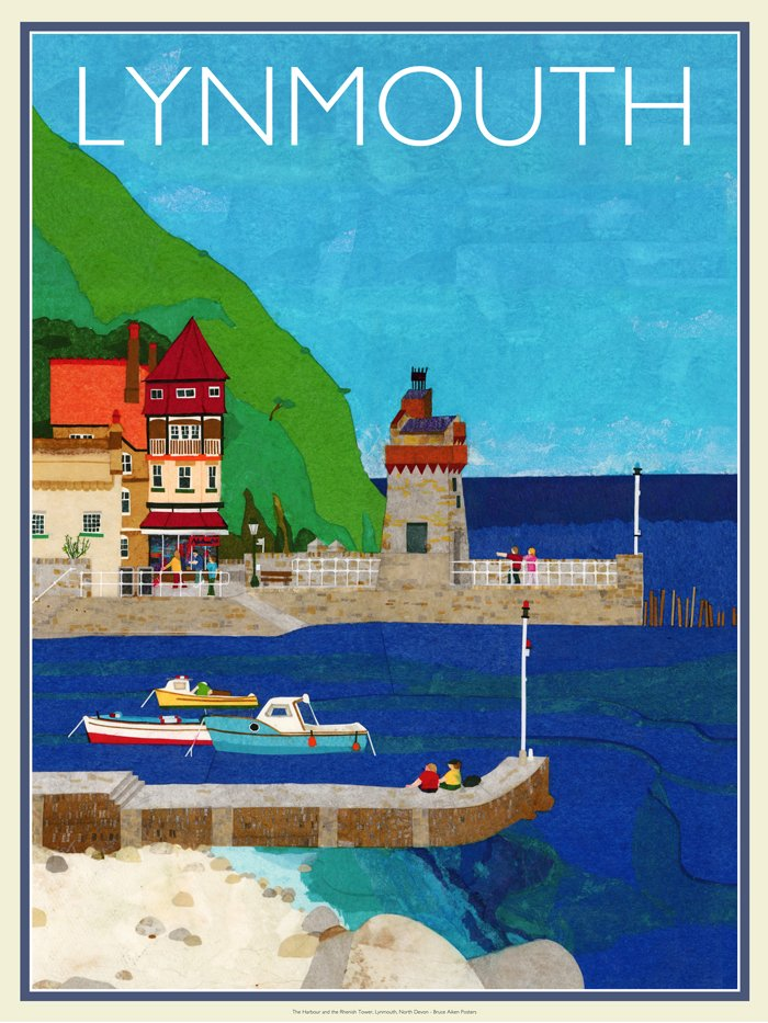 poster of lynmouth harbour