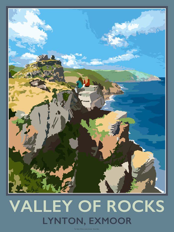 poster of valley of rocks