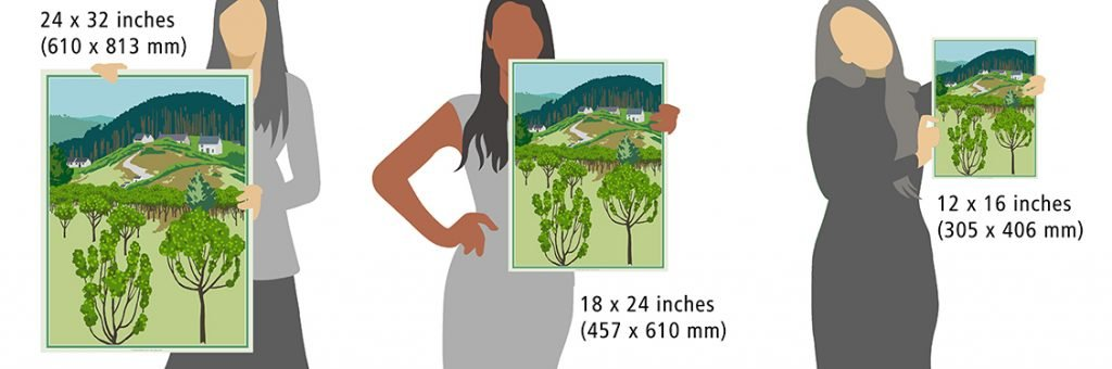 the orchard sizes